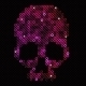 Pink Skull of Beads or Sequins - GraphicRiver Item for Sale