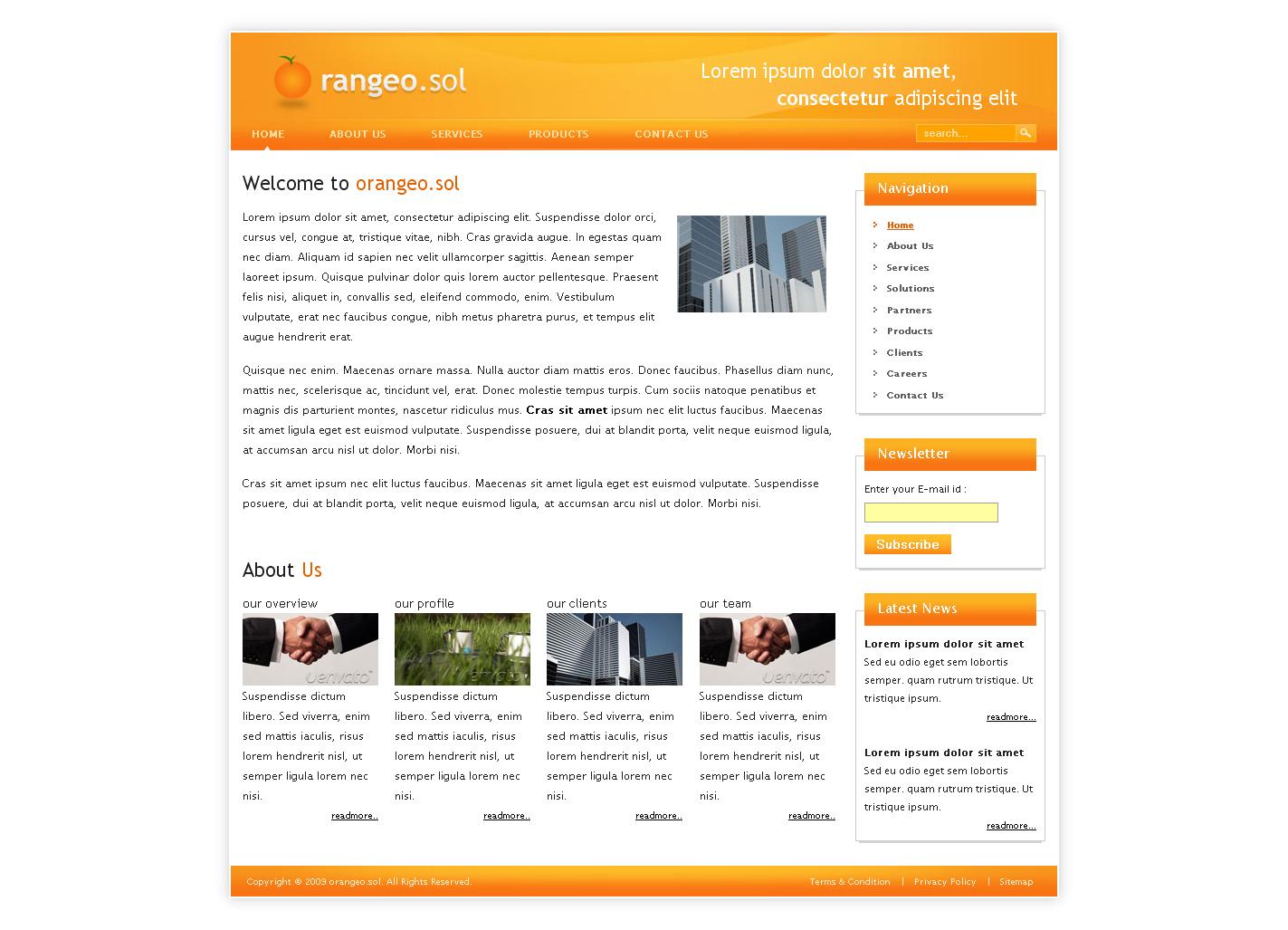 Orangeo.sol - Home Page of Orangeo