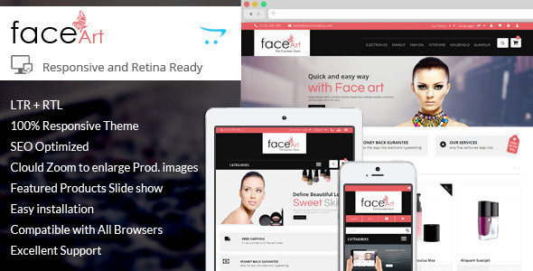 ThemeForest Face Art Responsive Opencart Theme 8102074