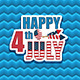 Fourth of July Decoration - GraphicRiver Item for Sale