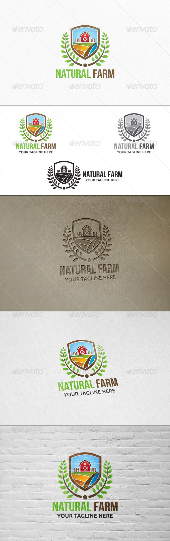 GraphicRiver Natural Farm Logo Template 8102228