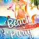 Beach Party - Under Water Flyer Template - GraphicRiver Item for Sale