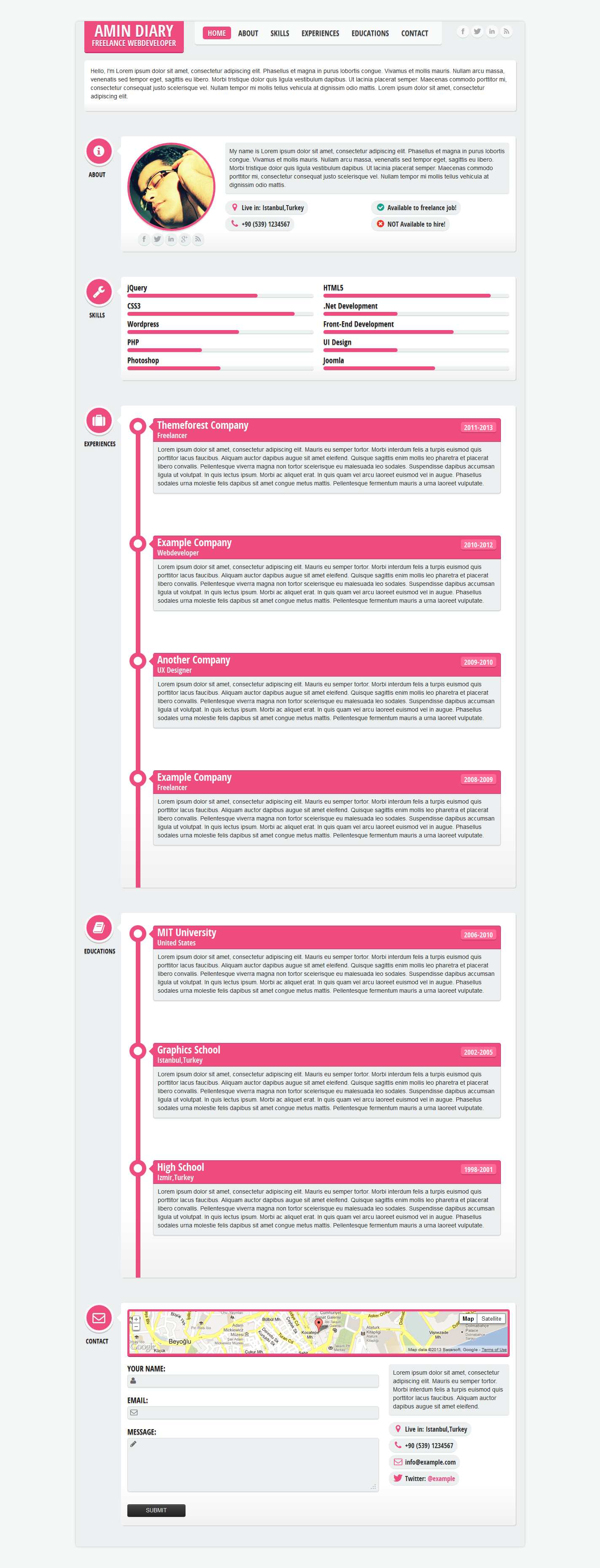 Flatty CV - Responsive Resume Template