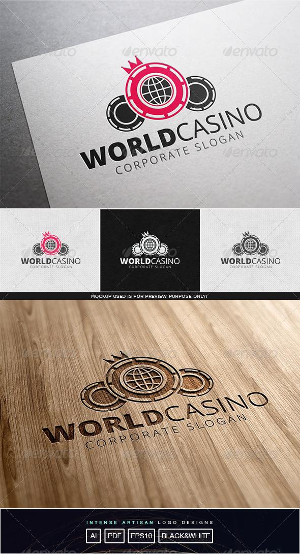 GraphicRiver World Casino Logo Template 8102438