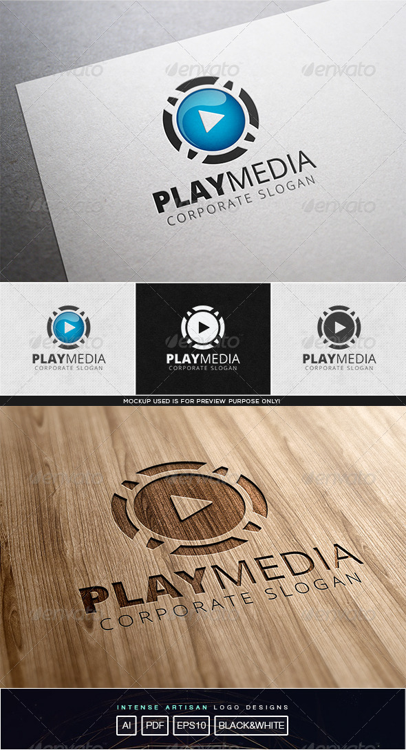 GraphicRiver Play Media Logo Template 8102489