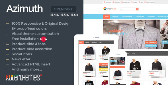 ThemeForest Azimuth Premium theme for your apparel store 8102491