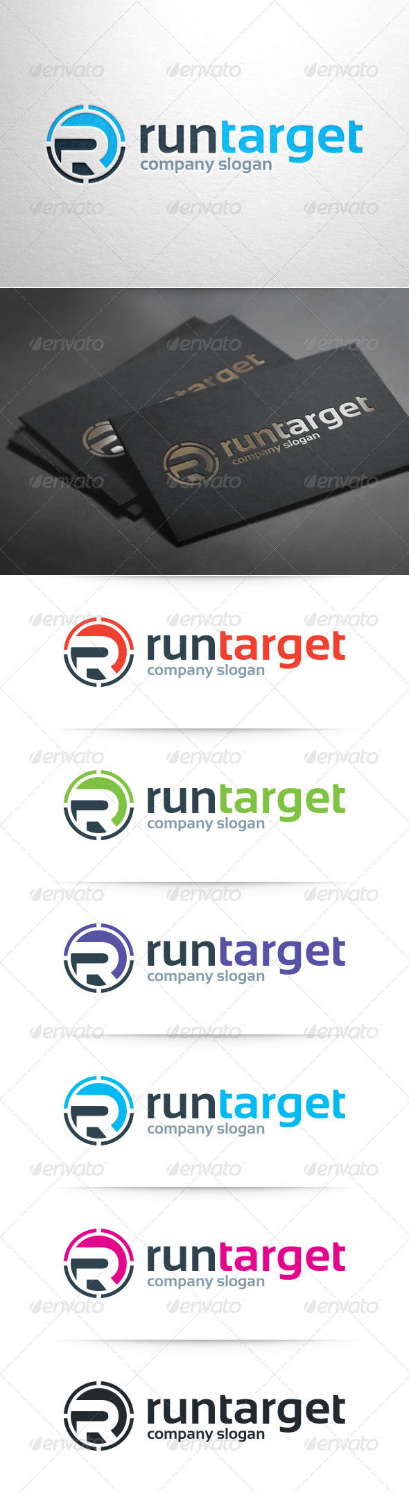 GraphicRiver Run Target Letter R Logo 8102527