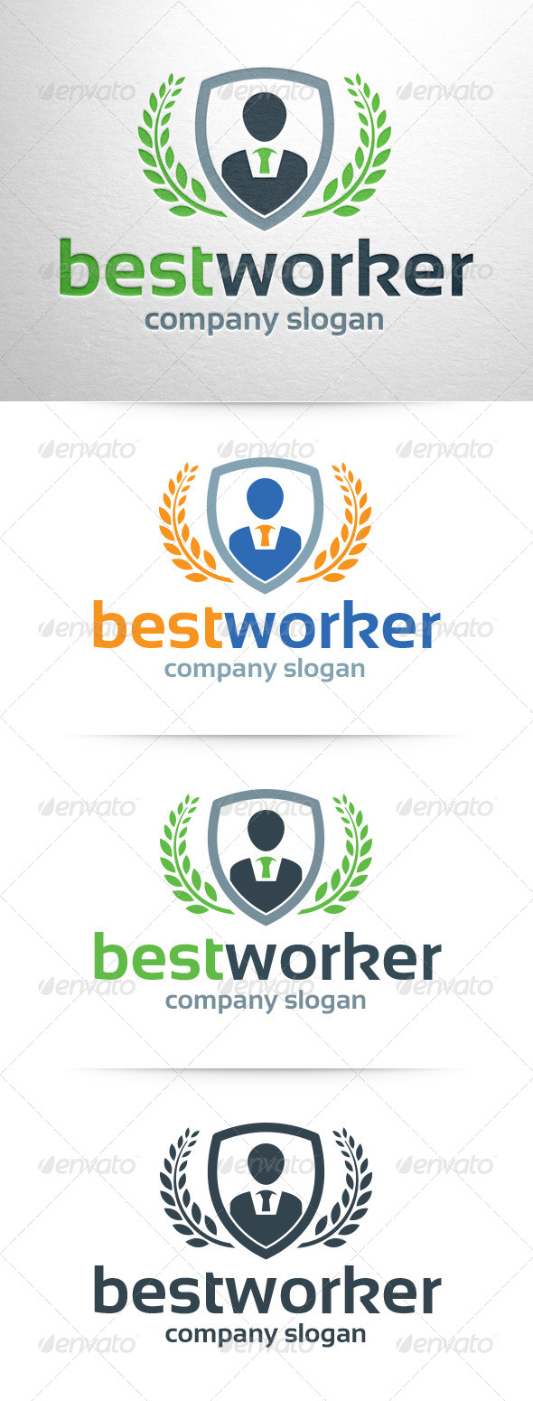GraphicRiver Best Worker Logo Template 8102535