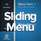 Animated Sliding Menu System