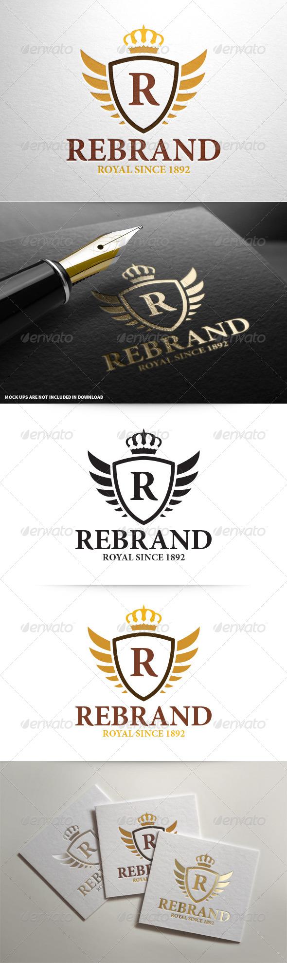 GraphicRiver ReBrand Royal Crest Letter Logo 8102592