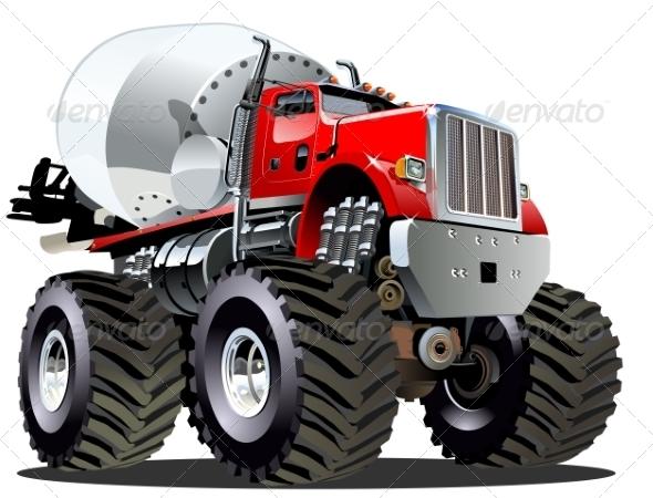 GraphicRiver Cartoon Mixer Monster Truck 8102630
