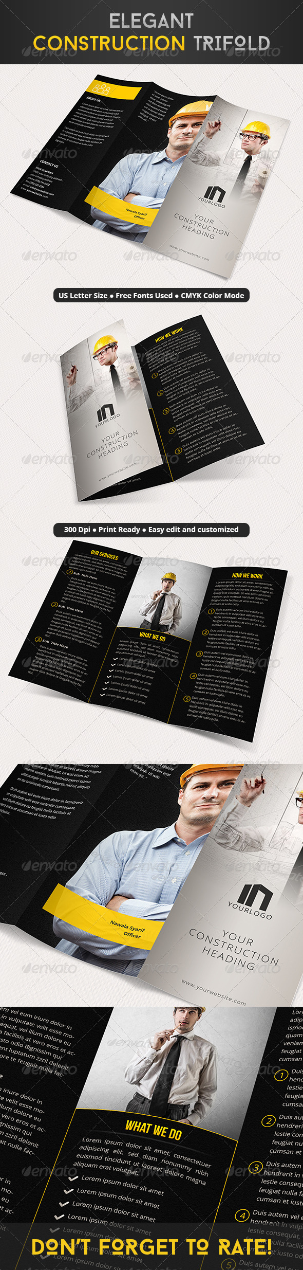 GraphicRiver Elegant Construction Trifold 8102655