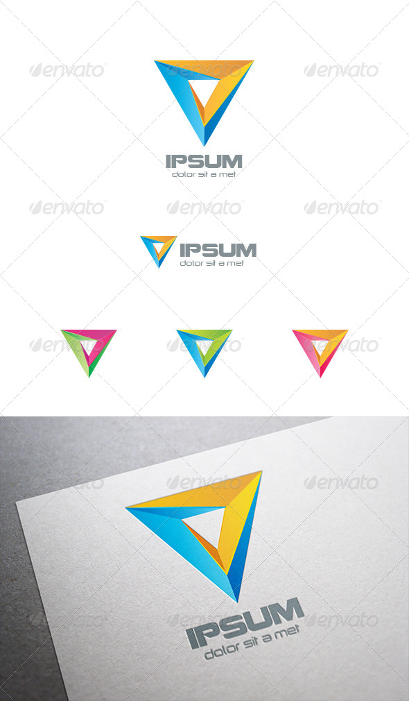 GraphicRiver Triangle Pyramid Logo Abstract 8102719