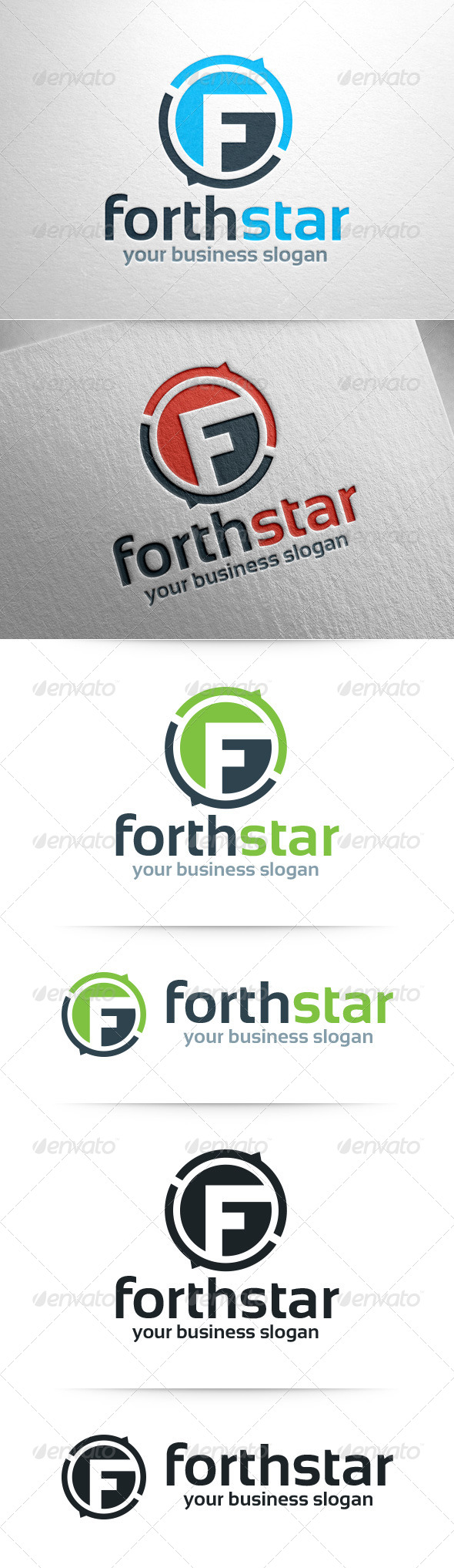 GraphicRiver Forthstar Letter F Logo Template 8102728