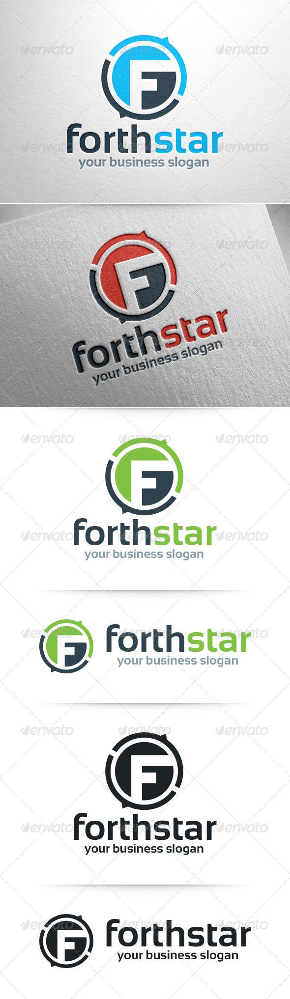 Forthstar Letter F Logo Template
