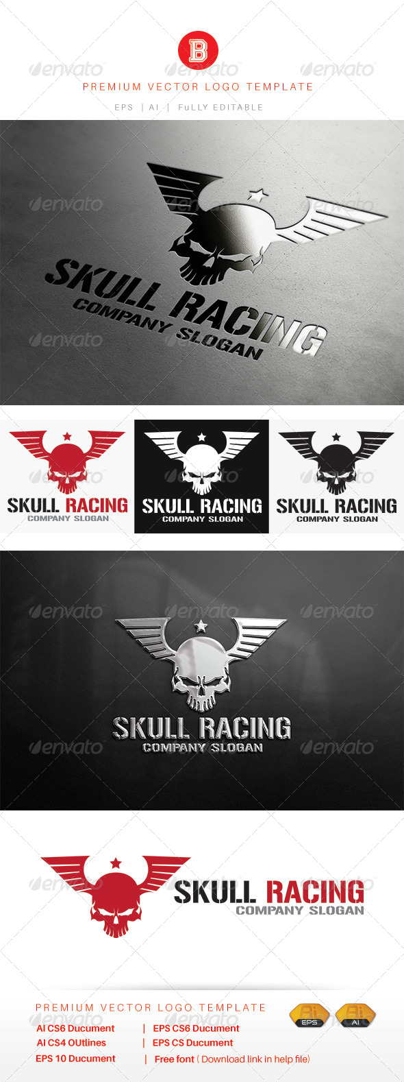GraphicRiver Skull Racing 8102733