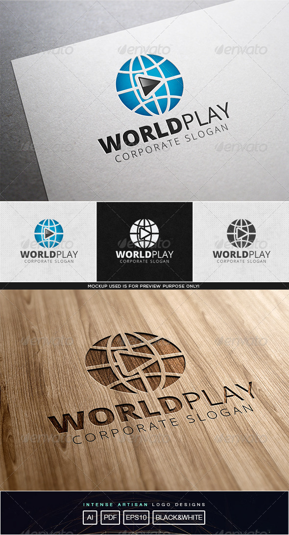 GraphicRiver World Play Logo Template 8102752