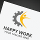 Happy Work Logo - GraphicRiver Item for Sale