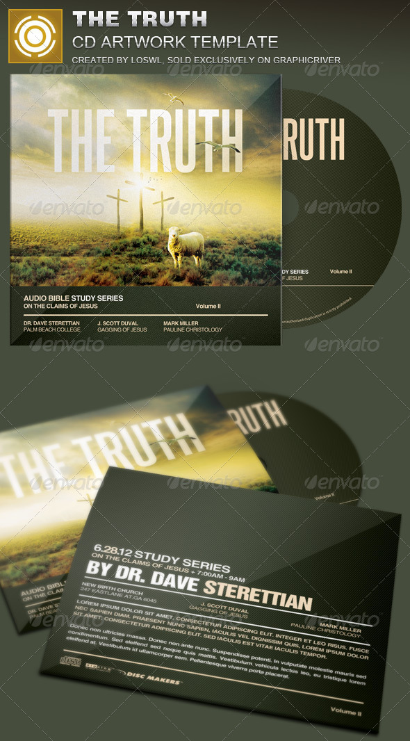 GraphicRiver The Truth CD Artwork Template 8102865