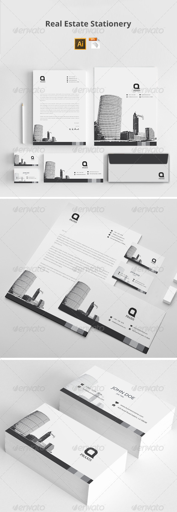 GraphicRiver Real Estate Stationery 8103004