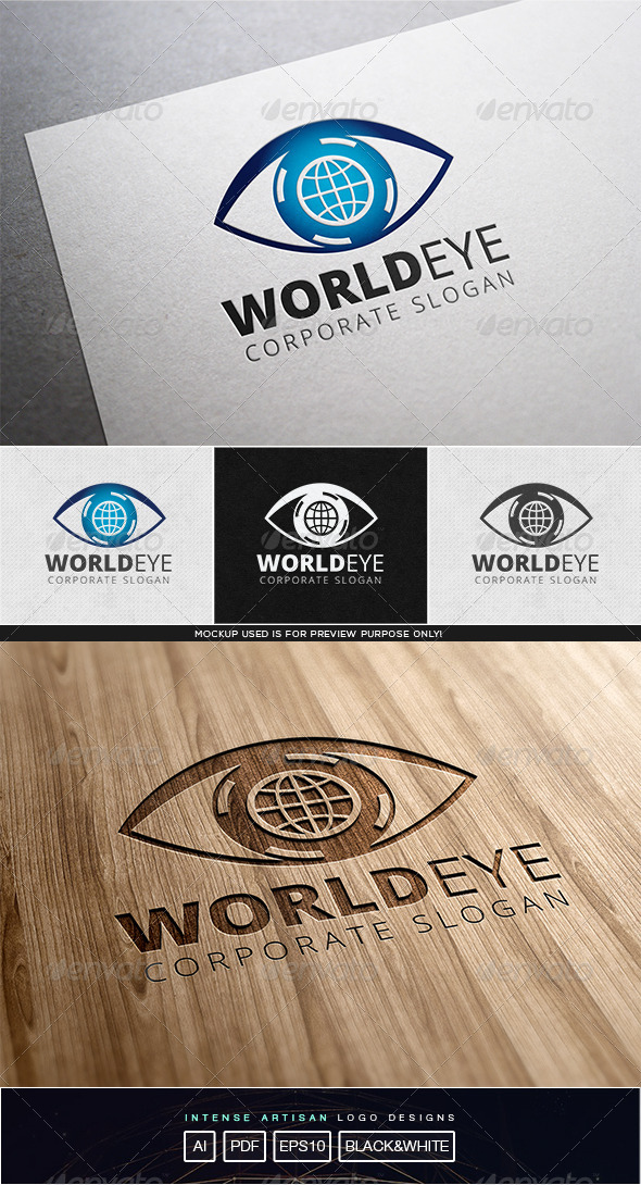 GraphicRiver World Eye Logo Template 8103049