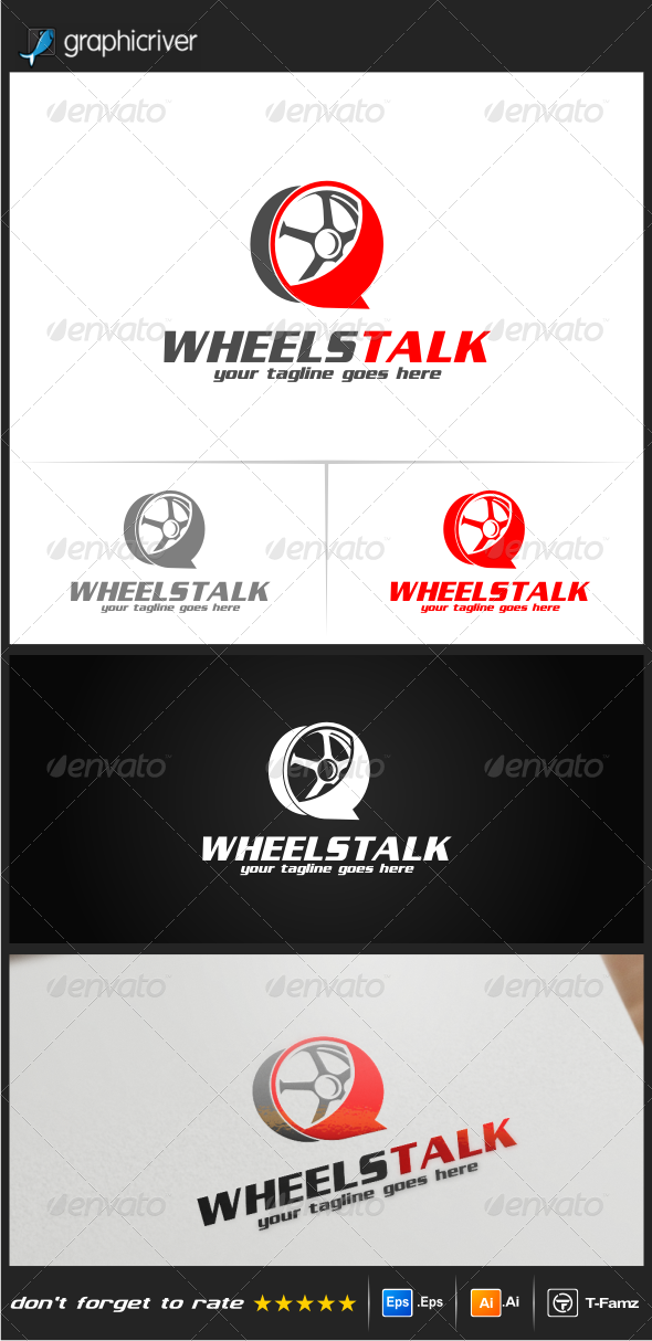 GraphicRiver Wheels Talk Logo Templates 8103066