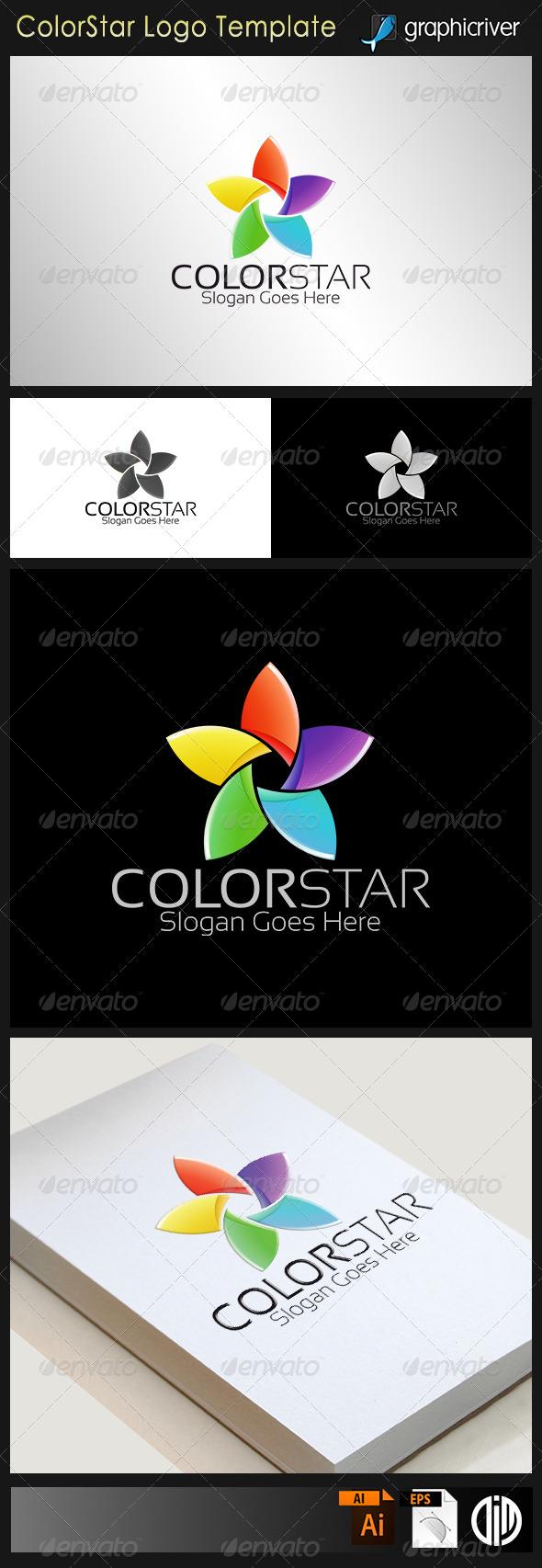 GraphicRiver Color Star Logo 8103084
