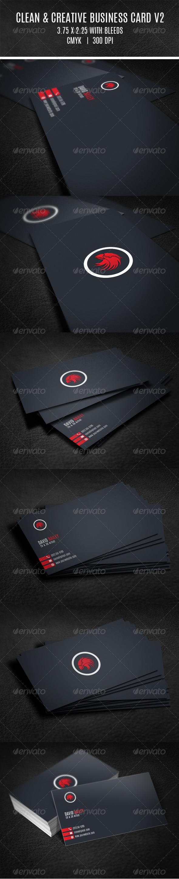 GraphicRiver Clean & Creative Business Card V2 8103099