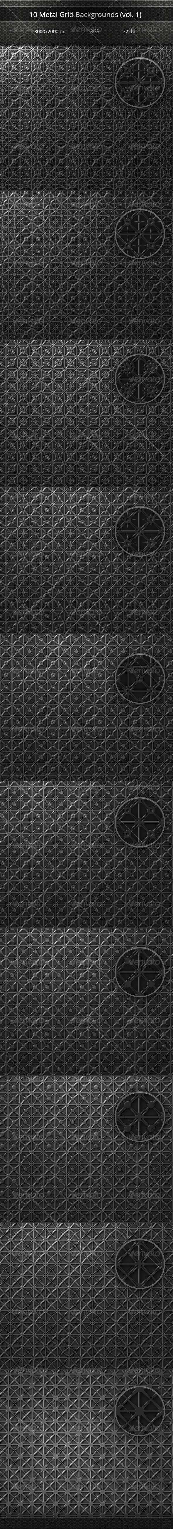 GraphicRiver Metal Grid Backgrounds vol 1 8103179