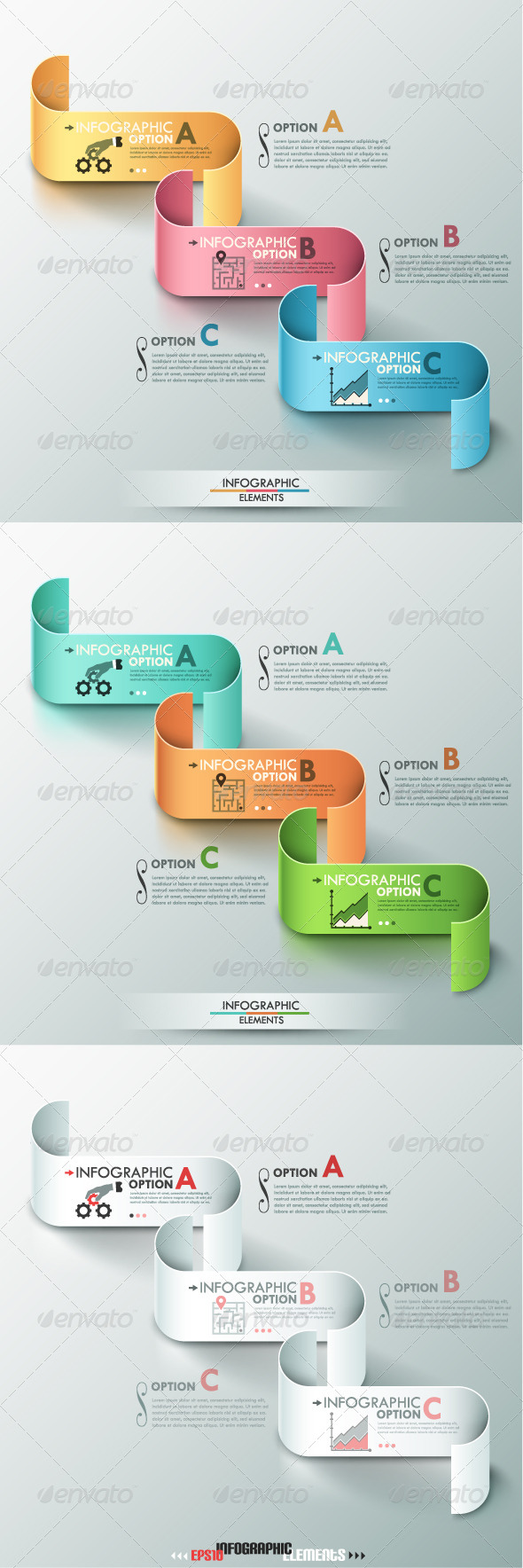 GraphicRiver Modern Infographics Options Banner 3 Versions 8103184