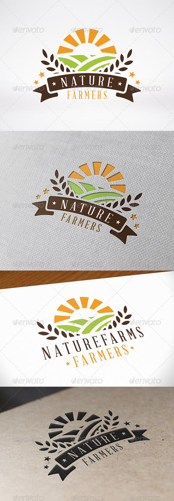 GraphicRiver Green Farm Logo Template 8096745