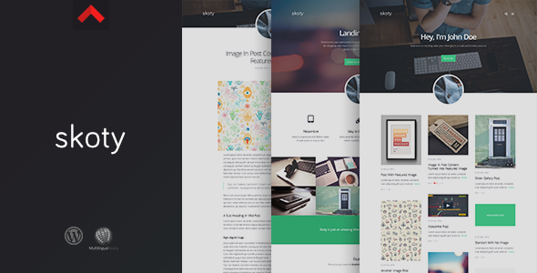 Skoty - Responsive Multipurpose Blogging Theme - Blog / Magazine WordPress