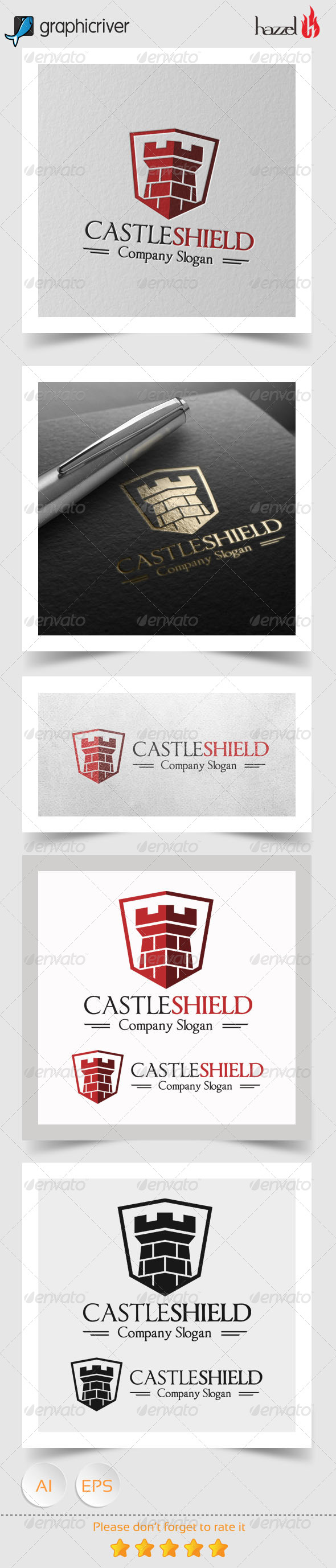 GraphicRiver Castle Shield Logo 8103273