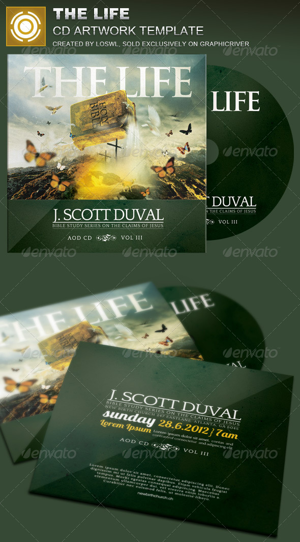 GraphicRiver The Life CD Artwork Template 8103085
