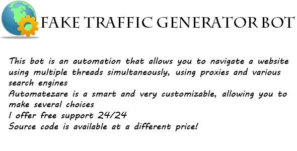 CodeCanyon Fake Traffic Generator Bot 7995040