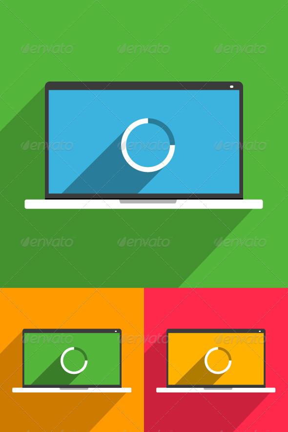 GraphicRiver Smart Laptop Mockup 8103348
