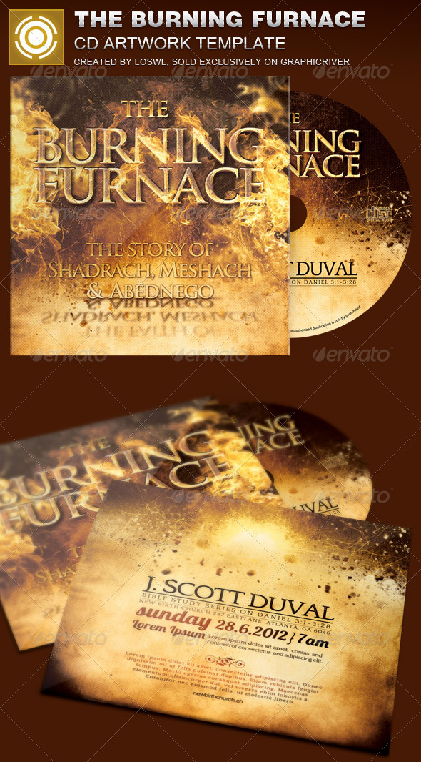 GraphicRiver The Burning Furnace CD Artwork Template 8103433