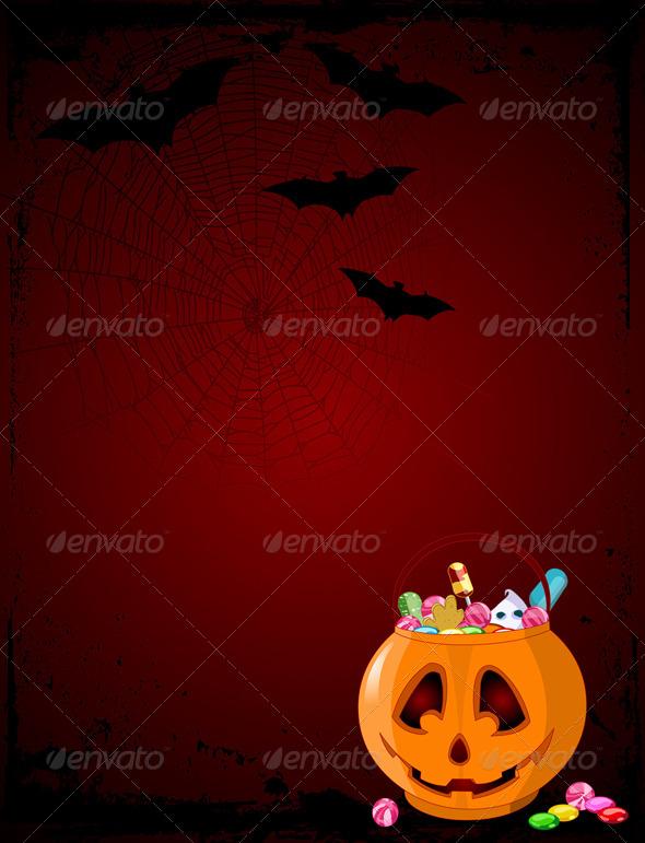 GraphicRiver Halloween Treats Background 8103484