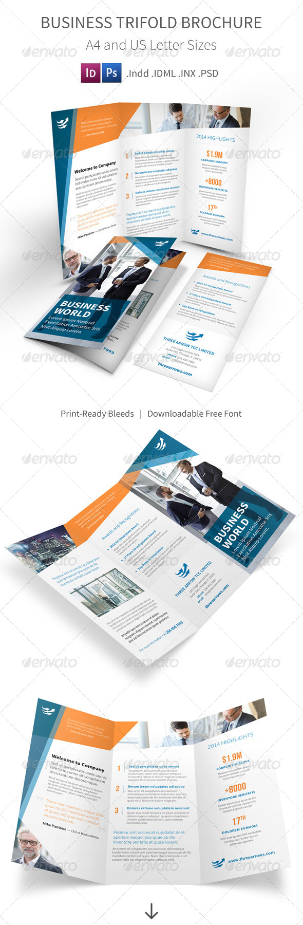 GraphicRiver Business Trifold Brochure 8103488
