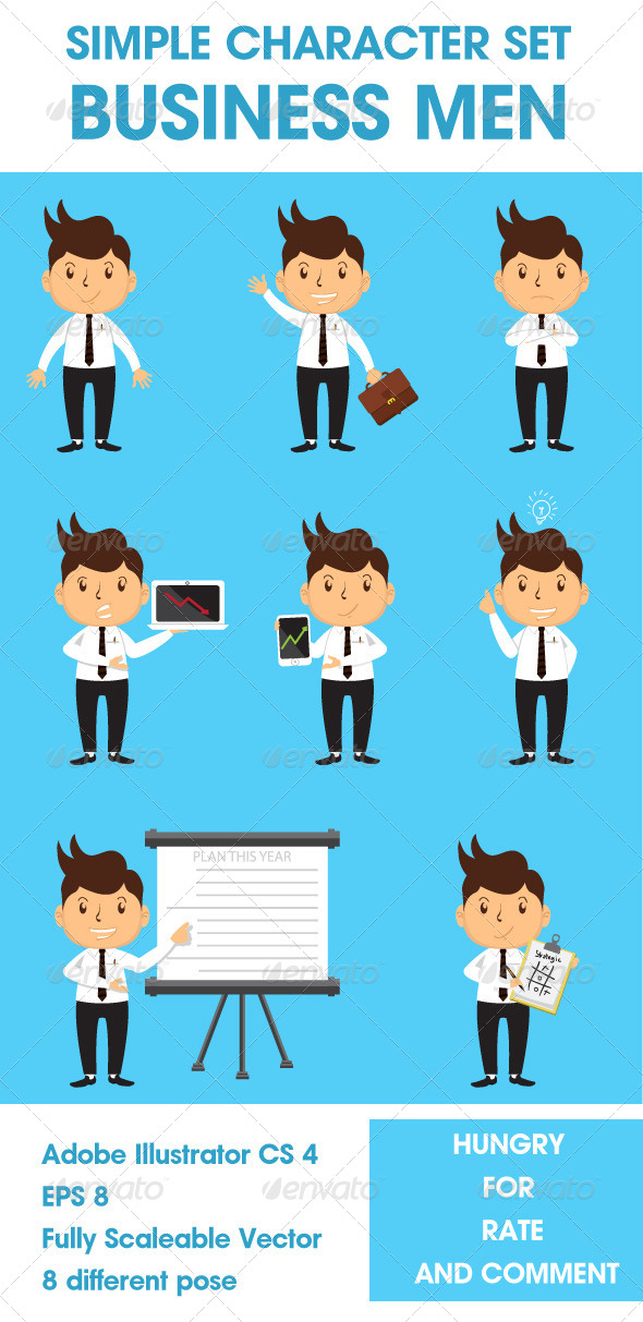 GraphicRiver Simple Character Set Business Men 8099752