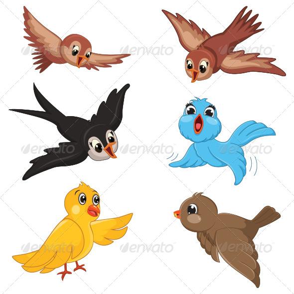 GraphicRiver Birds Vector Illustration 8103503