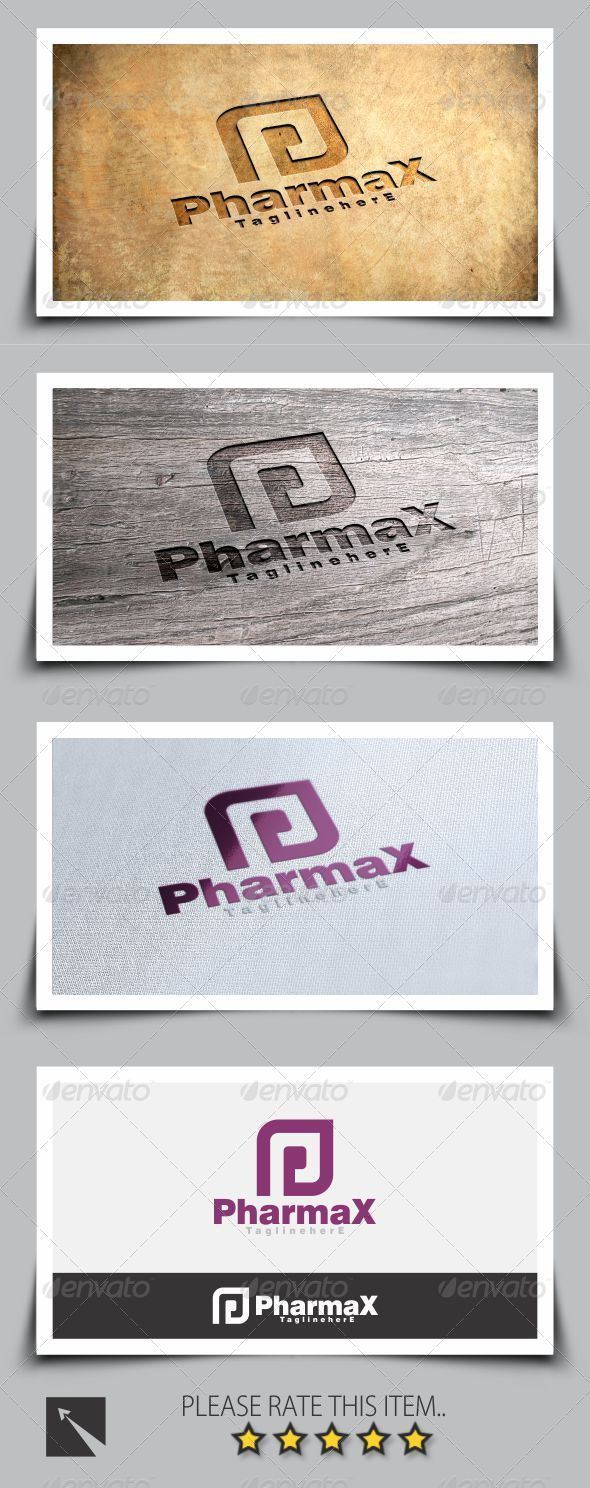 GraphicRiver Pharmax Letter P Logo Template 8103522