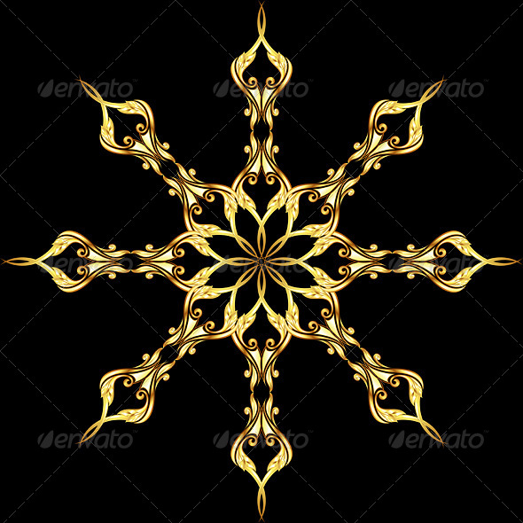 GraphicRiver Golden Flower Pattern 8103545