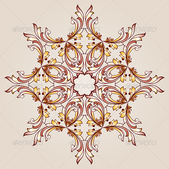 GraphicRiver Flower Pattern Henna 8103551