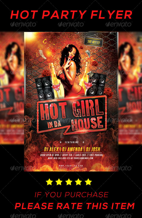 GraphicRiver hot Girl Party Flyer 8103587