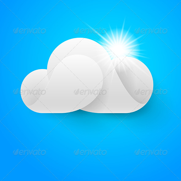 White Cloud on Blue