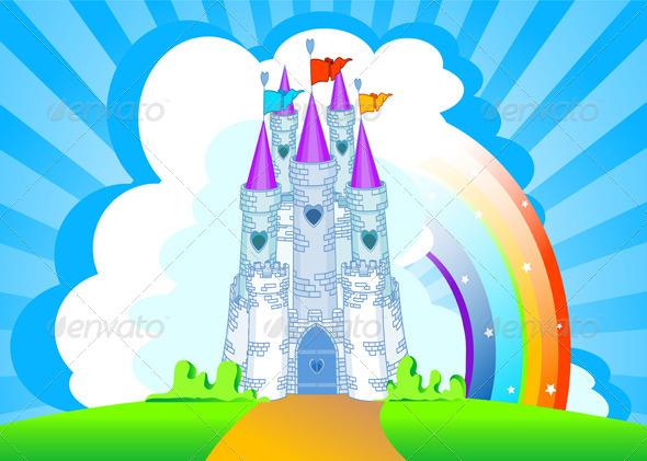 GraphicRiver Magic Castle Invitation Card 8103639