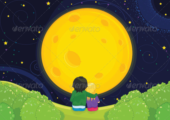 GraphicRiver Couple and Moon 8103971