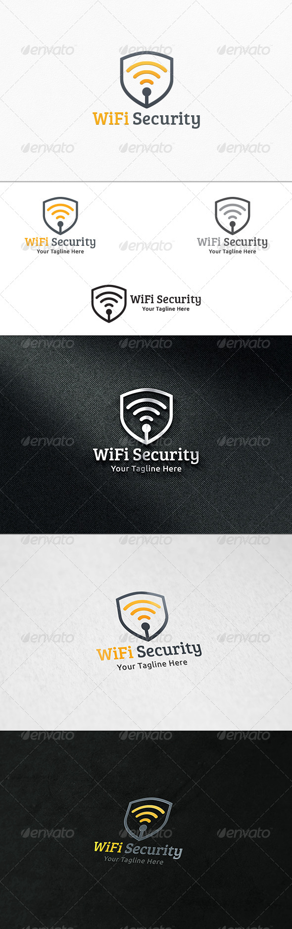 GraphicRiver WiFi Security Logo Template 8103978