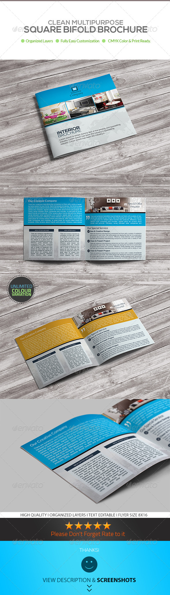 GraphicRiver Square Bifold Brochure Interior Design Template 8104533